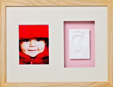 Fotolijst met gipsafdruk online babyfotolijsten naturel baby memory prints - Baby voet verkoop ...