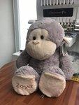 Knuffel aap met afritsbare voetjes