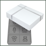 Dooky Gift Handprint dubbele lijst wit & memory box_