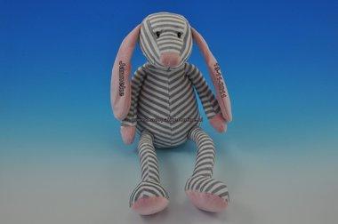 Hond grijs roze gestreept met naam