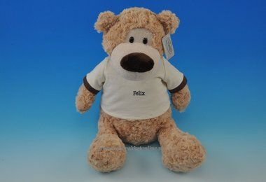 Knuffel beer Felix met naam