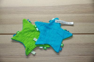 Labeldoekje met Naam (Groen/Blauw)