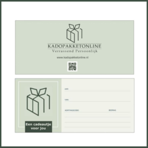 Cadeaubon Kadopakketonline.nl