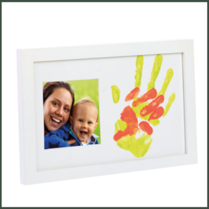 Happy Hands Baby and Me verf print set Wit