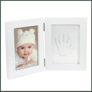 Dooky Gift Handprint dubbele lijst wit & memory box